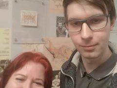 Student K4 na vyhlášení výsledků esejistické soutěže Knihovny Václava Havla