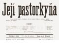 """Klub přátel vážné hudby – Janáčkova """"Její pastorkyňa"""" (K2-K4)"""